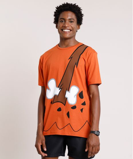 Camiseta-Masculina-Carnaval-Bambam-Os-Flintstones-Manga-Curta-Gola-Careca-Cobre-9871699-Cobre_1