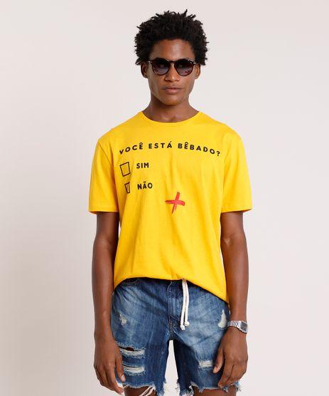 Camiseta-Masculina-Carnaval--Voce-Esta-Bebado---Manga-Curta-Gola-Careca-Mostarda-9726543-Mostarda_1