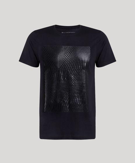 Camiseta-Masculina-Slim-Fit-com-Estampa-Geometrica-Manga-Curta-Gola-Careca-Preta-9842149-Preto_5