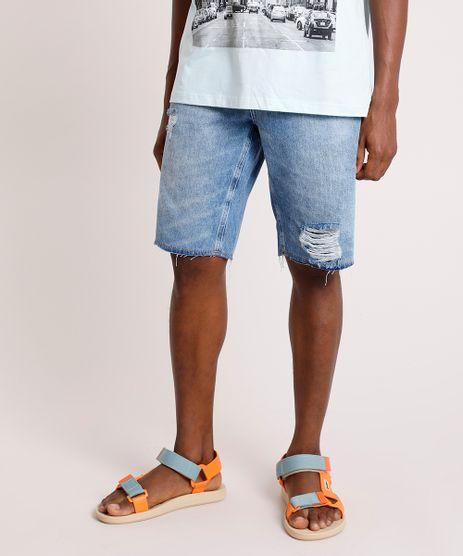 Bermuda-Jeans-Masculina-Slim-Destroyed-Azul-Medio-9335203-Azul_Medio_1