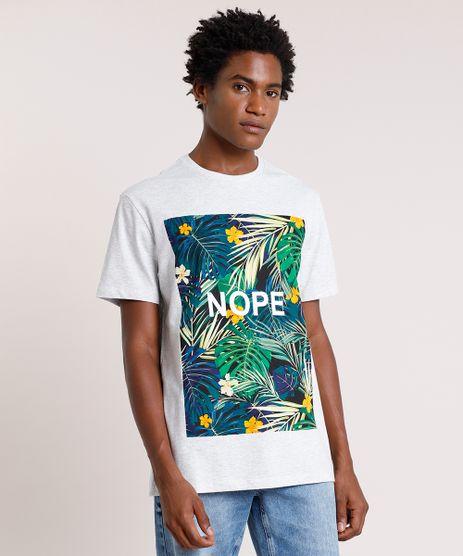 Camiseta-Masculina--Nope--Manga-Curta-Gola-Careca-Cinza-Mescla-Claro-9737509-Cinza_Mescla_Claro_1