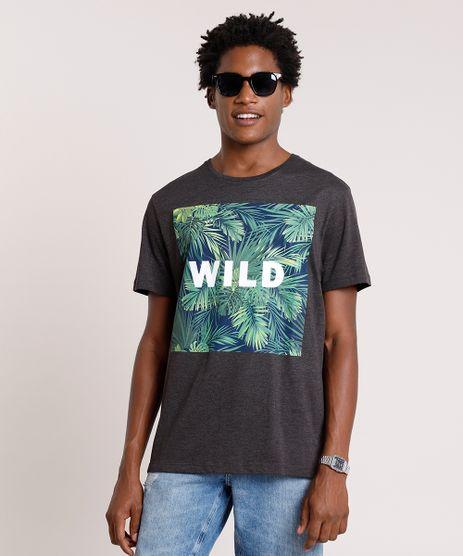 Camiseta-Masculina-Folhagem--Wild--Manga-Curta-Gola-Careca-Cinza-Mescla-Escuro-9738706-Cinza_Mescla_Escuro_1