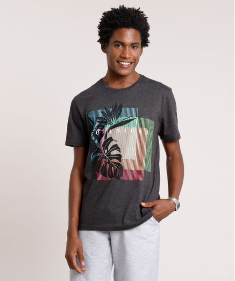 Camiseta-Masculina--Botanical--Manga-Curta-Gola-Careca-Cinza-Mescla-Escuro-9726320-Cinza_Mescla_Escuro_1