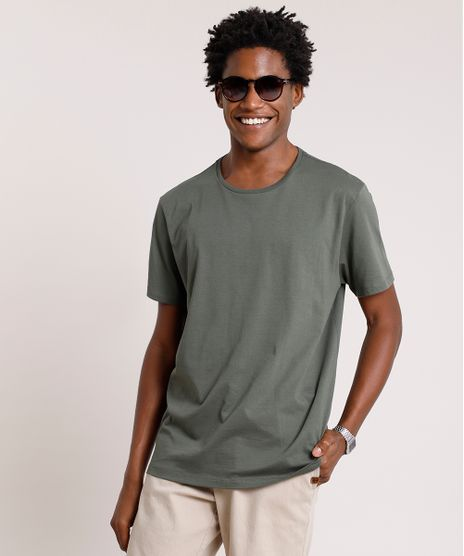 Camiseta-Masculina-Basica-Manga-Curta-Gola-Careca-Verde-Militar-8472740-Verde_Militar_1