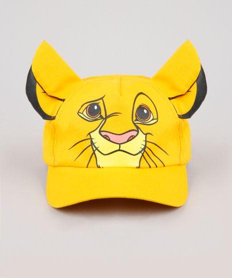 Bone-Infantil-Carnaval-Simba-O-Rei-Leao-Aba-Curva-com-Orelhas-Amarelo-9888498-Amarelo_1