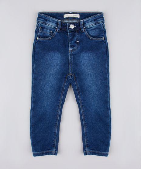 Calca-Jeans-Infantil-em-Moletom-Azul-Escuro-9829313-Azul_Escuro_1