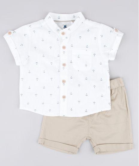 Conjunto-Infantil-de-Camisa-Estampada-em-Linho-Manga-Curta-Gola-Portuguesa---Bermuda-com-Bolsos-Bege-9682009-Bege_1