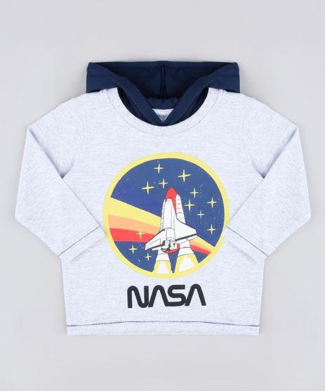 Camiseta-Infantil-NASA-com-Capuz-Manga-Longa-Cinza-Mescla-Claro-9837265-Cinza_Mescla_Claro_1