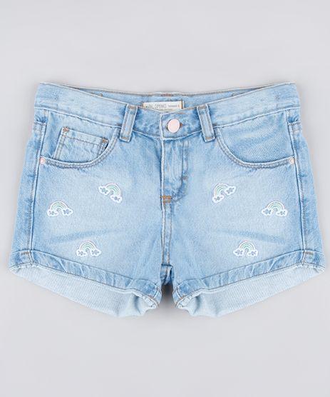 Short-Jeans-Infantil-com-Bordado-de-Arco-Iris-Azul-Claro-9794720-Azul_Claro_1