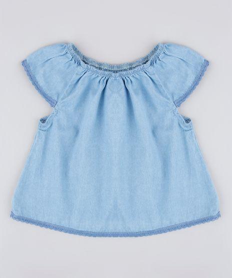 Blusa-Jeans-Infantil-Manga-Curta-Azul-Medio-9829312-Azul_Medio_1