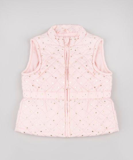 Colete-Infantil-Puffer-Matelasse-Estampado-de-Estrelas-Rosa-Claro-9784730-Rosa_Claro_1