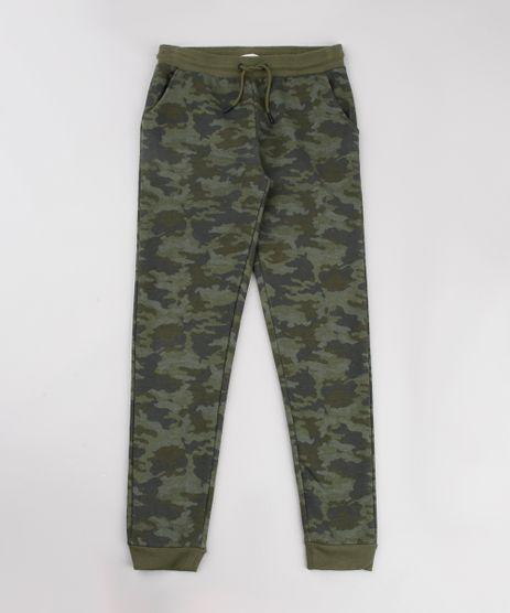 Calca-Infantil-Jogger-Estampada-Camuflada-em-Moletom-Verde-Militar-9785967-Verde_Militar_1