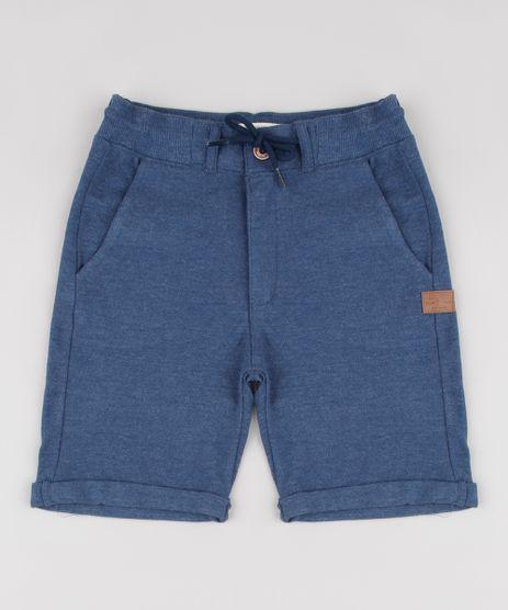 Bermuda-Infantil-em-Piquet-com-Bolsos-Azul-Escuro-9659160-Azul_Escuro_1