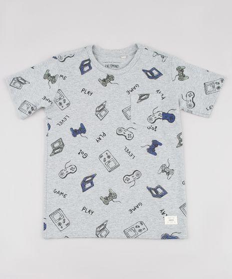 Camiseta-Infantil-Estampada-Games-Manga-Curta-Cinza-Mescla-9838013-Cinza_Mescla_1