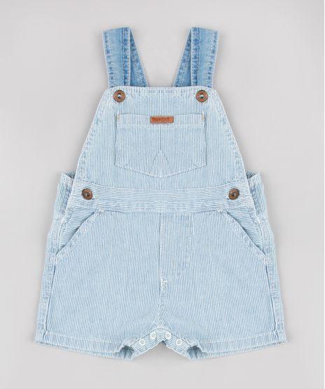Jardineira-Jeans-Infantil-Listrada-com-Bolsos-Azul-Claro-9862246-Azul_Claro_1