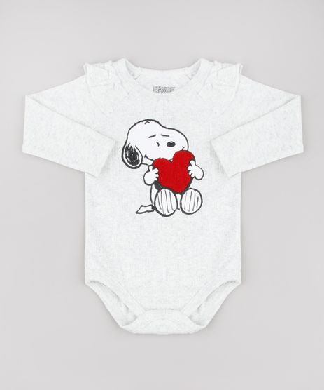 Body-Infantil-Snoopy-Canelado-Manga-Longa-Cinza-Mescla-Claro-9723437-Cinza_Mescla_Claro_1