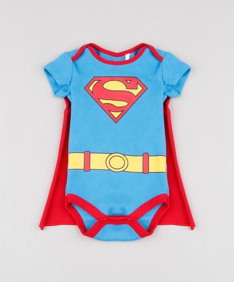 Body-Infantil-Super-Homem-com-Capa-Manga-Curta-Azul-9858163-Azul_1