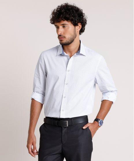 Camisa-Social-Masculina-Comfort-Estampada-Mini-Print-Manga-Longa-Branca-9690635-Branco_1