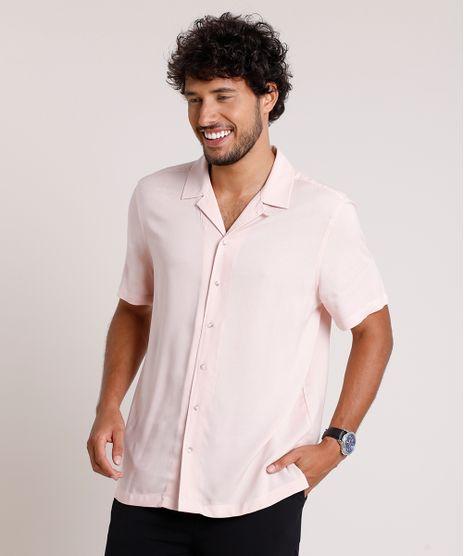 Camisa-Masculina-Relaxed-Manga-Curta-Rose-9657145-Rose_1