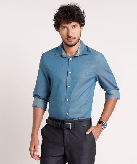 Camisa-Social-Masculina-Comfort-Maquinetada-Manga-Longa-Azul-Petroleo-9639456-Azul_Petroleo_1