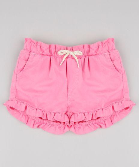 Short-de-Sarja-Infantil-com-Babados-e-Laco-Rosa-9829315-Rosa_1
