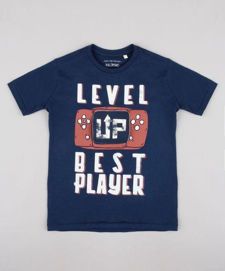 Camiseta-Infantil-com-Estampa-Interativa--Best-Player--Manga-Curta-Azul-Marinho-9838014-Azul_Marinho_1