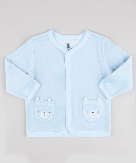 Cardigan-Infantil-em-Plush-com-Bolsos-de-Ursinhos-Azul-Claro-9688478-Azul_Claro_1