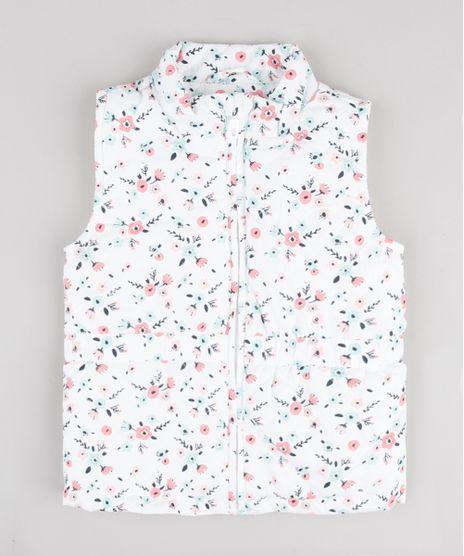 Colete-Infantil-Puffer-Matelasse-Estampado-Floral-Branco-9783174-Branco_1