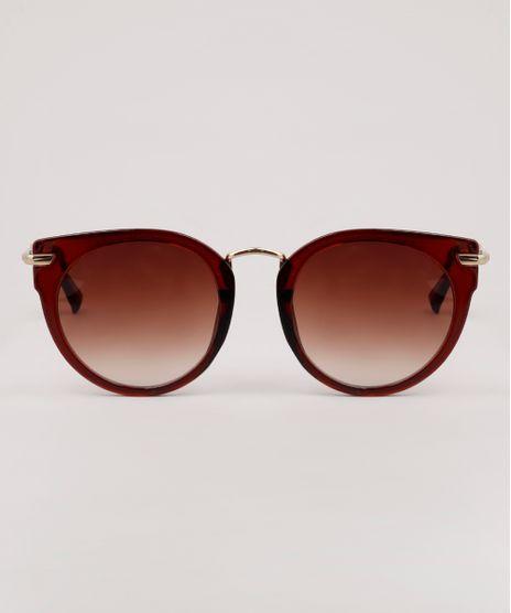 Oculos-de-Sol-Redondo-Feminino-Yessica-Marrom-9910497-Marrom_1