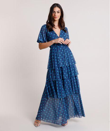 Vestido-Feminino-Mindset-Longo-Estampado-de-Poa-em-Camadas-Manga-Curta-Azul-Marinho-9876078-Azul_Marinho_1