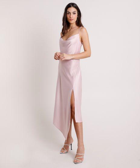 Vestido-Slip-Dress-Feminino-Mindset-Assimetrico-Acetinado-com-Fenda-Alca-Fina-Rose-9909289-Rose_1