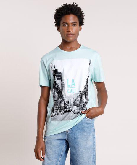 Camiseta-Masculina-Cidade--LA-Cali--Manga-Curta-Gola-Careca-Verde-Agua-9725593-Verde_Agua_1