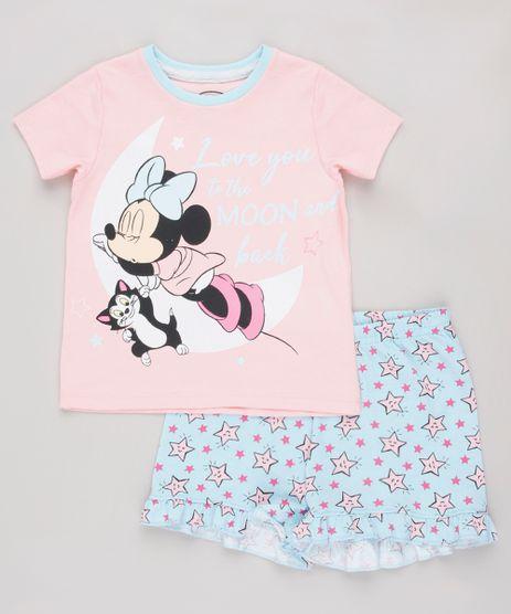 Pijama-Infantil-Minnie-Manga-Curta-Rosa-9844003-Rosa_1