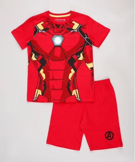 Pijama-Infantil-Homem-de-Ferro-Manga-Curta-Vermelho-9843999-Vermelho_1