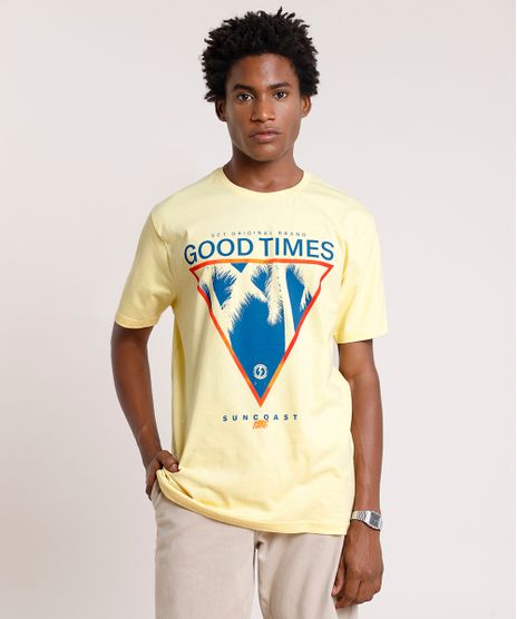 Camiseta-Masculina--Good-Times--Manga-Curta-Gola-Careca-Amarelo-Claro-9785997-Amarelo_Claro_1