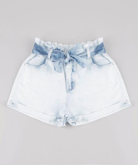 Short-Jeans-Infantil-Clochard-com-Faixa-para-Amarrar-Azul-Claro-9892635-Azul_Claro_1