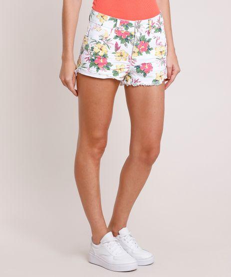 Short-de-Sarja-Feminino-Boy-Cintura-Media-Estampado-Floral-Branco-9863089-Branco_1