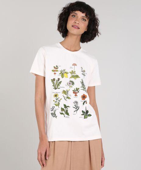 T-Shirt-Feminina-Mindset-Botanica-Manga-Curta-Decote-Redondo-Bege-Claro-9846874-Bege_Claro_1