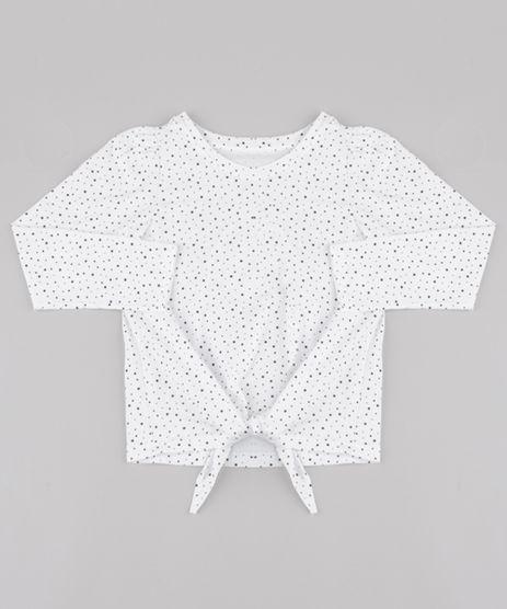 Blusa-Infantil-Estampada-de-Poa-com-No-Manga-Longa-Off-White-9845993-Off_White_1