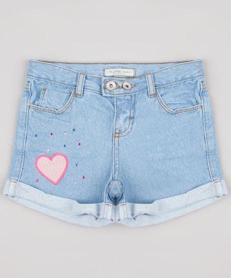 Short-Jeans-Infantil-com-Patch-e-Strass-Azul-Claro-9890462-Azul_Claro_1