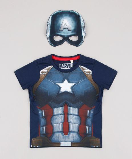 Camiseta-Infantil-Carnaval-Capitao-America-Manga-Curta---Mascara-Azul-Marinho-9838316-Azul_Marinho_1