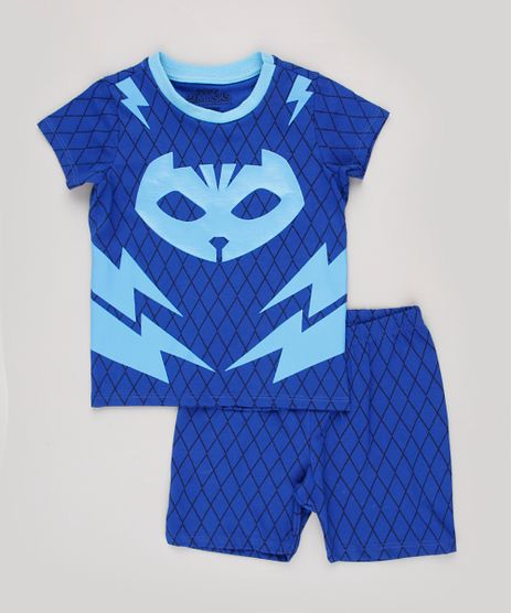 Pijama-Infantil-PJ-Masks-Menino-Gato-Estampado-Manga-Curta-Azul-Royal-9843995-Azul_Royal_1