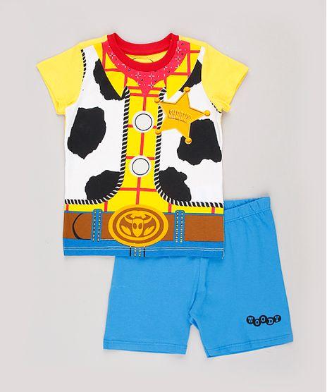 Pijama-Infantil-Woody-Toy-Story-Manga-Curta-Amarelo-9843996-Amarelo_1