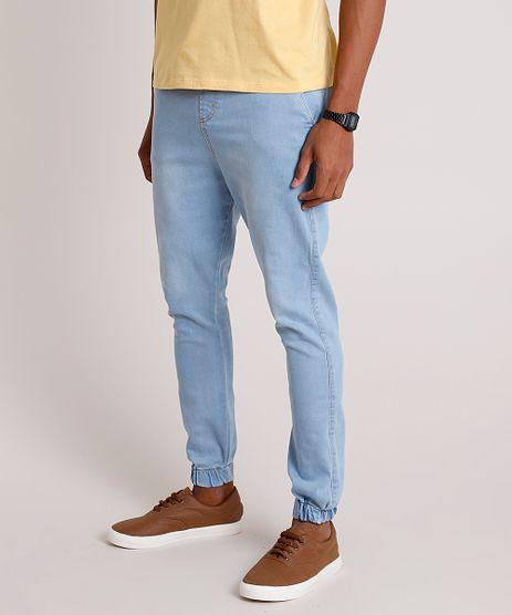 Calca-Jeans-Masculina-Jogger-com-Cordao-Azul-Claro-9862060-Azul_Claro_1