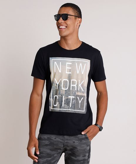 Camiseta-Masculina--New-York-City--Manga-Curta-Gola-Careca-Preta-9756431-Preto_1