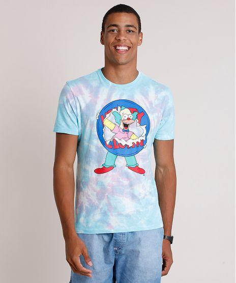 Camiseta-Masculina-Krusty-Os-Simpsons-Estampada-Tie-Dye-Manga-Curta-Gola-Careca-Azul-Claro-9847603-Azul_Claro_1