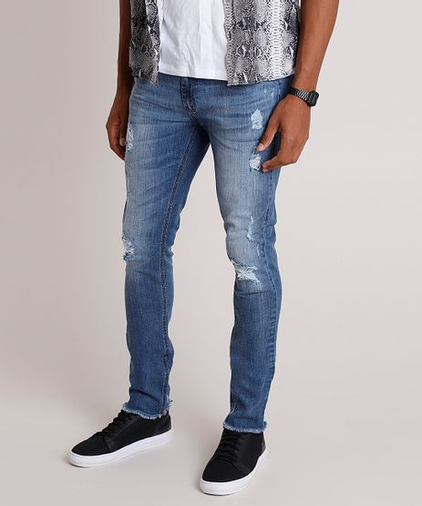 Calca-Jeans-Masculina-Skinny-Destroyed-Azul-Escuro-9828780-Azul_Escuro_1