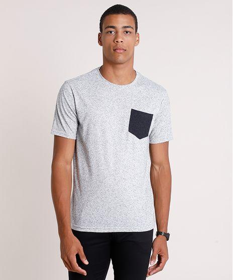 Camiseta-Masculina-com-Linho-e-Bolso-Manga-Curta-Gola-Careca-Cinza-Mescla-9851901-Cinza_Mescla_1