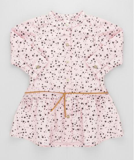 Vestido-Estampado-de-Estrelas--Rosa-8616796-Rosa_1