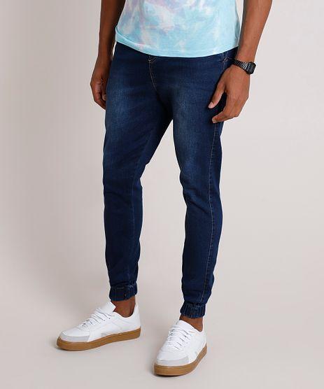 Calca-Jeans-Masculina-Jogger-com-Cordao-Azul-Escuro-9862064-Azul_Escuro_1